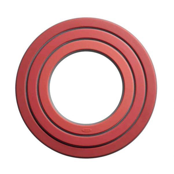 סט 3 טבעות (משטח לסיר) אדום