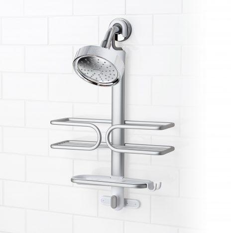 מתלה לאמבטיה/מקלחת 2 קומות אלומיניום OXO